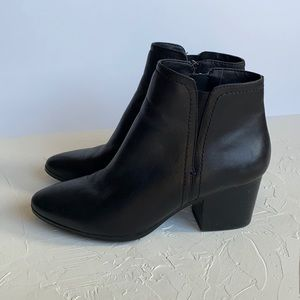 Aldo Black Leather Bootie with Heel